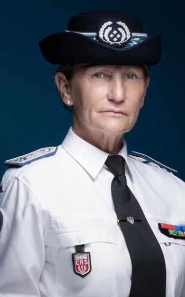 La directrice centrale des CRS, Pascale Regnault-Dubois