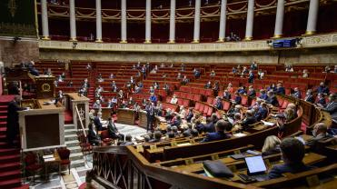L'hémicycle de l'Assemblée nationale en avril 2021